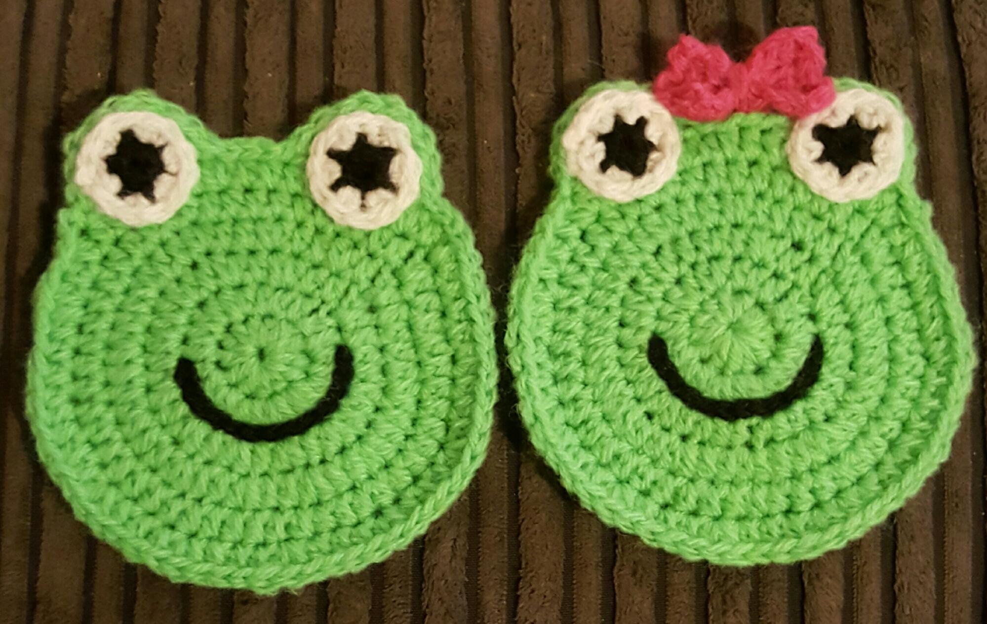 Crochet Frog Coasters – craftandothercrazyplans