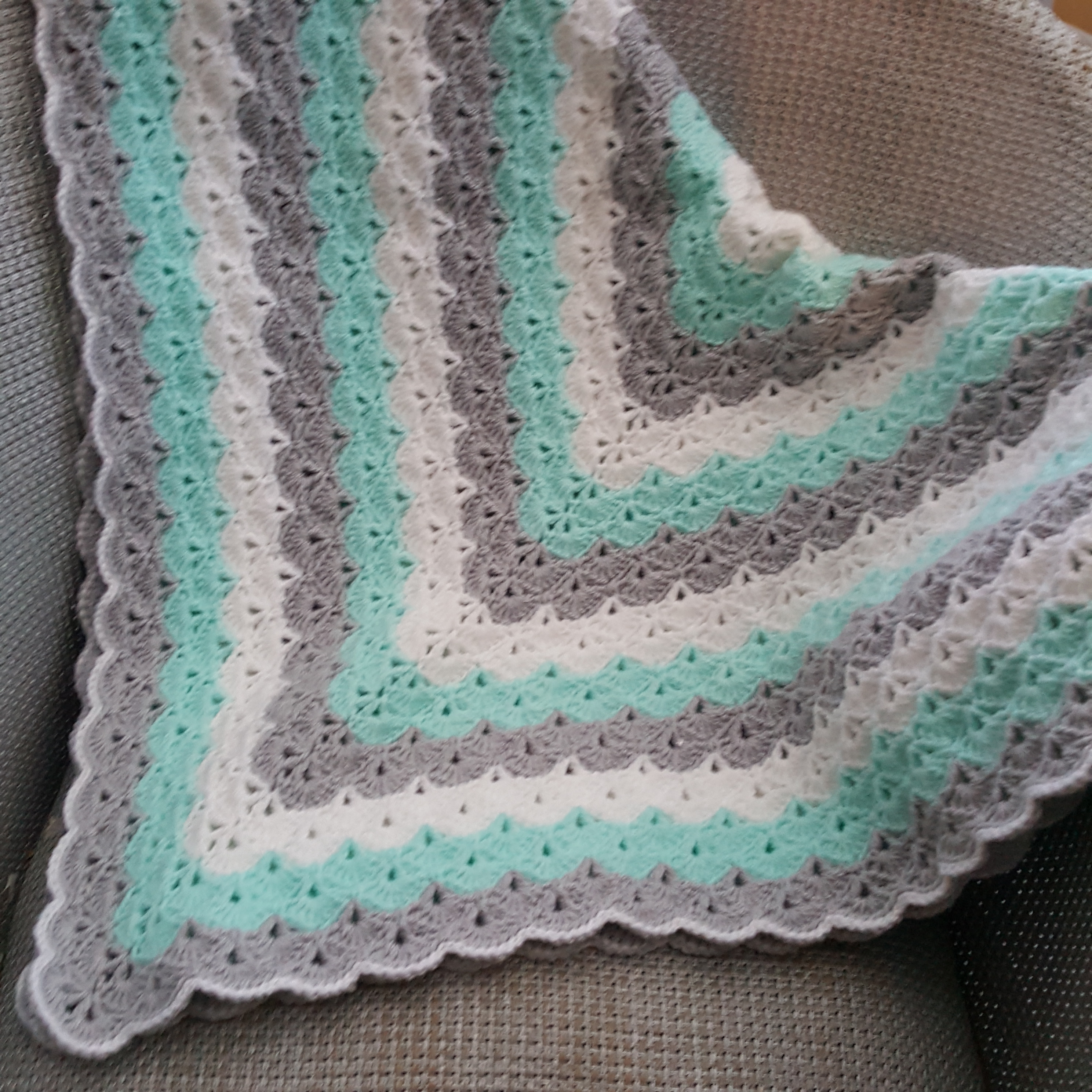 Finished Object Friday Beautiful Shells Baby Blanket